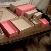Set de plateaux en bois pour Celio